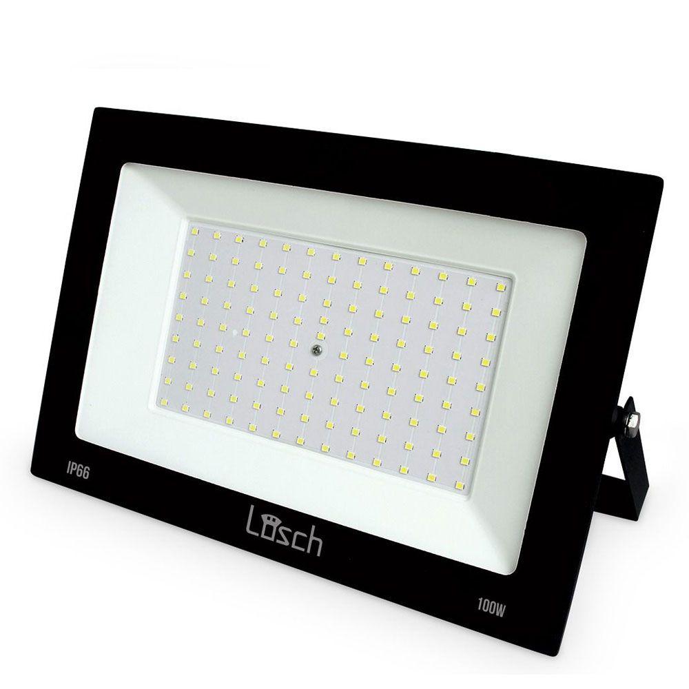Refletor Led Slim 100W 6000K Bivolt - Losch