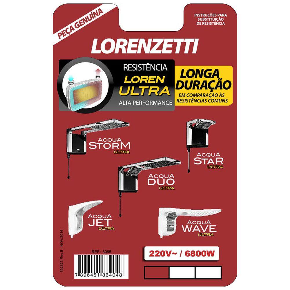 Resistência para Ducha Ultra 6800W 220V - Lorenzetti