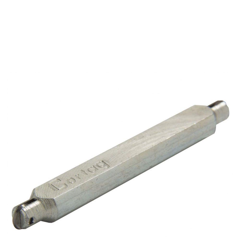 Rodel Duplo Aço Zincado 80mm - Cortag