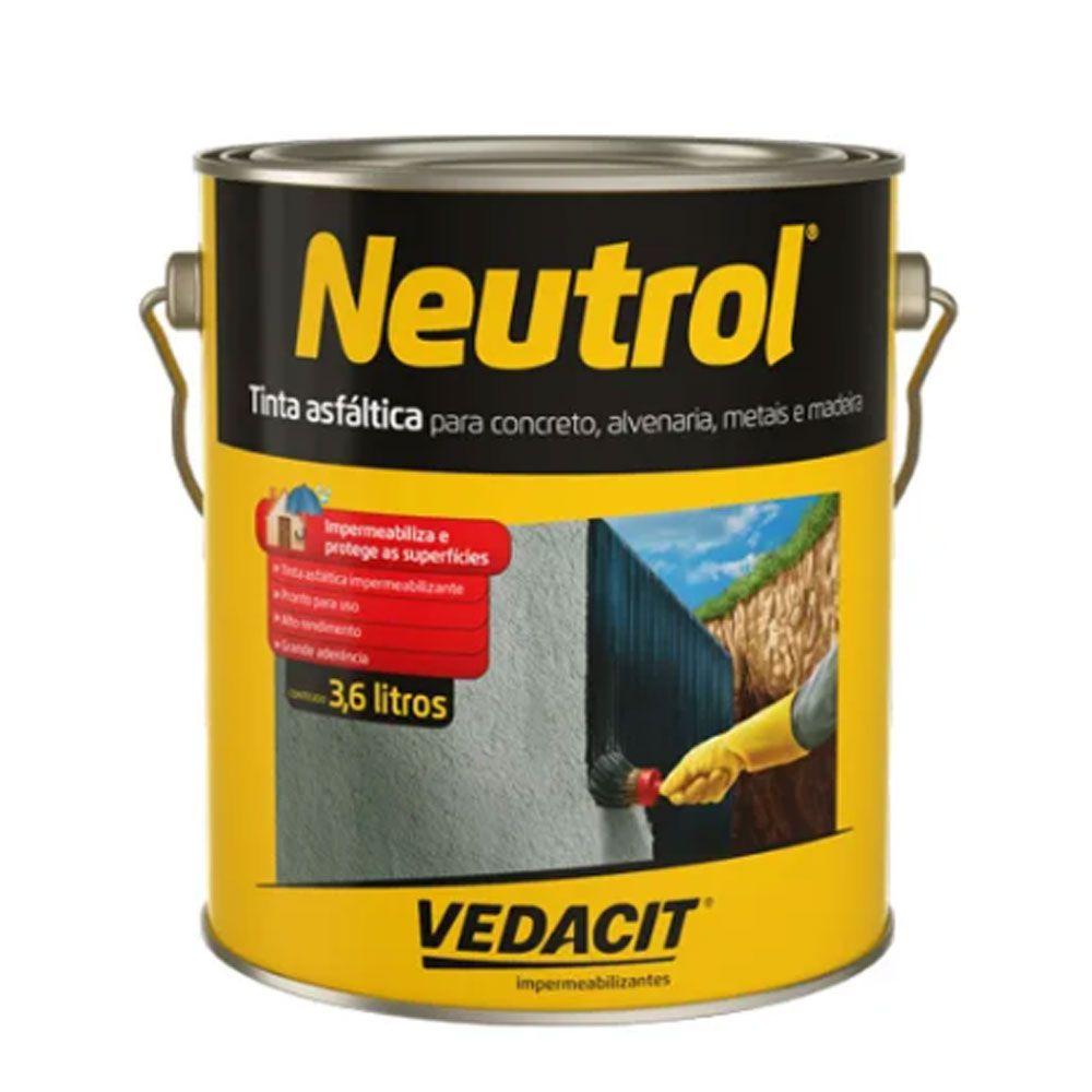 Tinta Asfáltica Neutrol 3,6lt - Vedacit