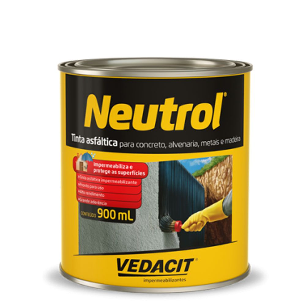 Tinta Asfáltica Neutrol 900ml - Vedacit