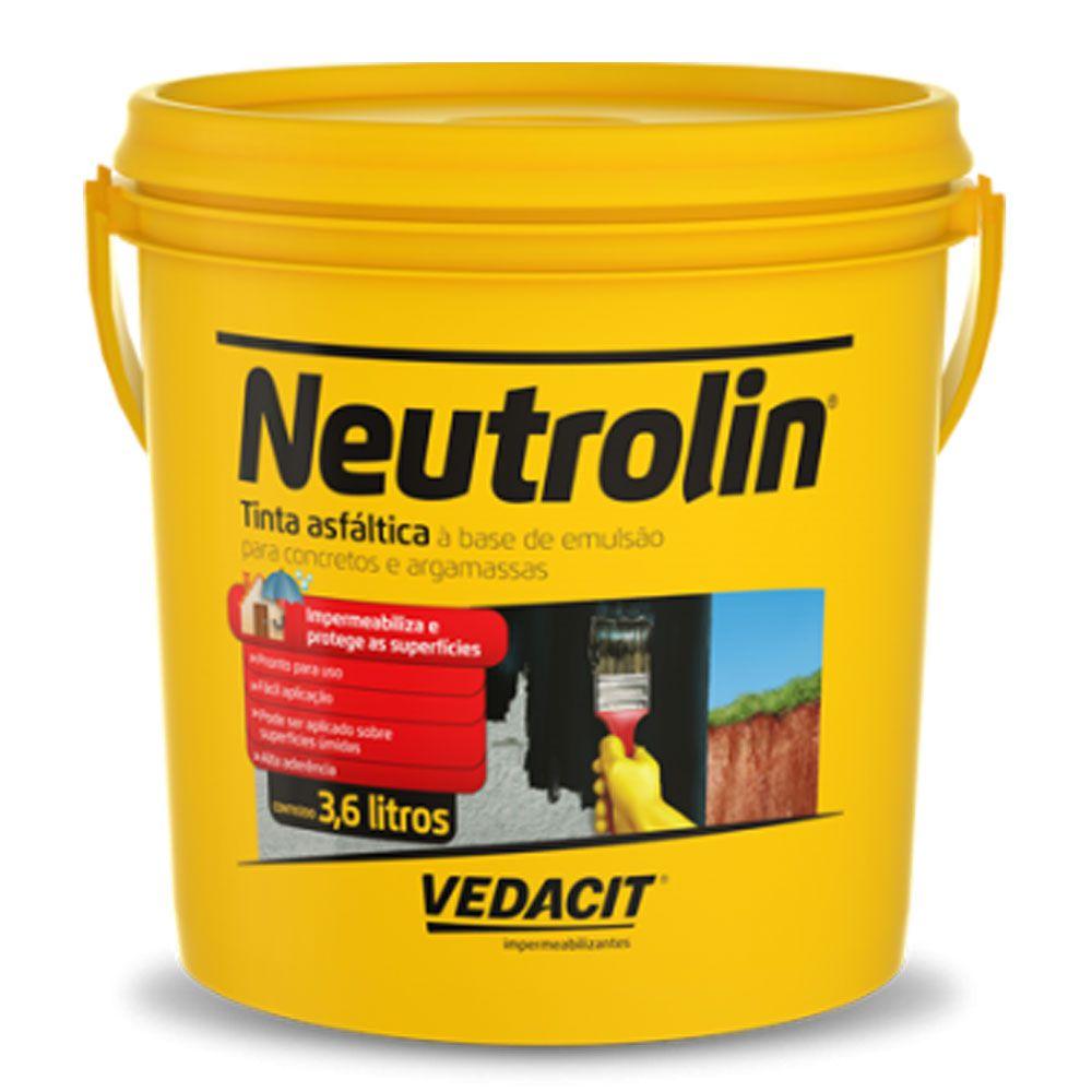 Tinta Asfáltica Neutrolin 3,6lt - Vedacit