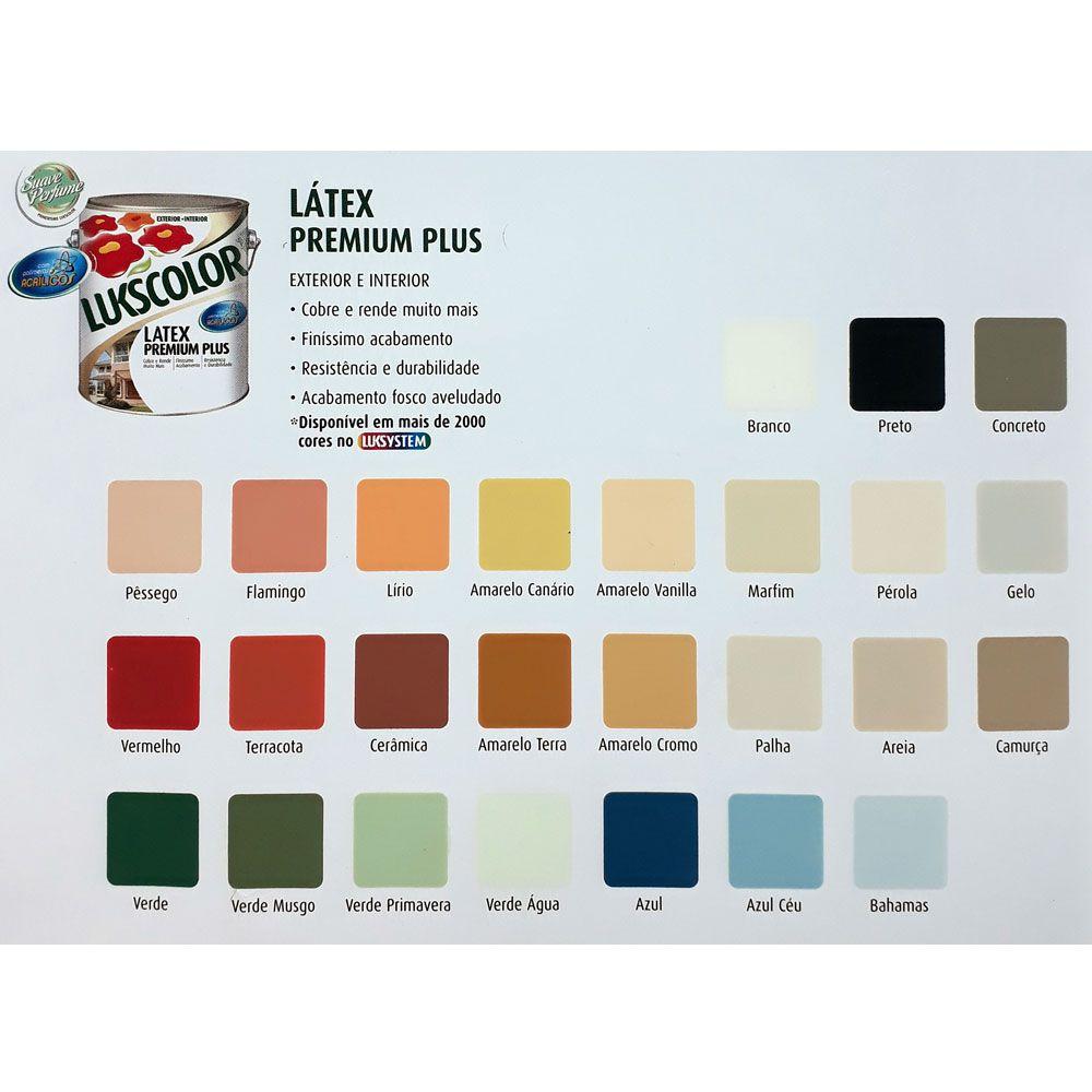 Tinta Látex Premium Plus 18L - Lukscolor