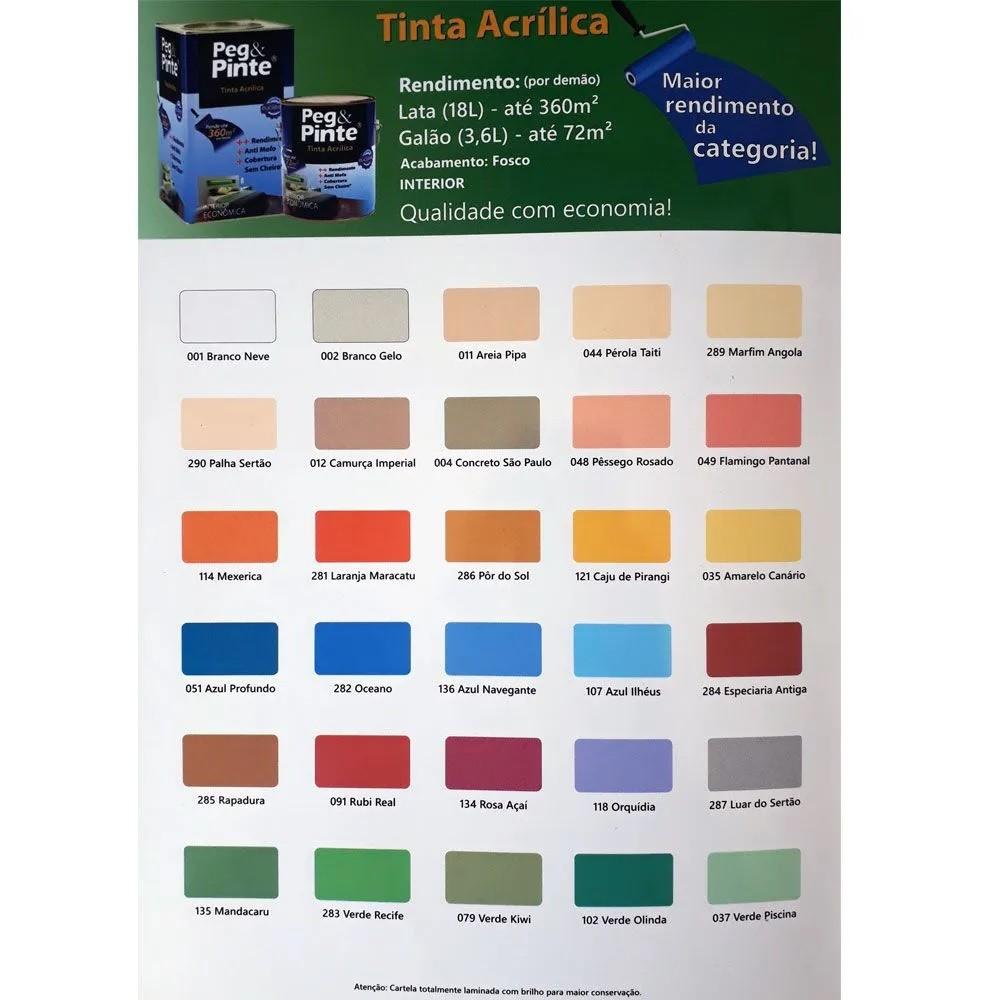 Tinta Peg & Pinte Látex Acrílico 3,6L - Eucatex