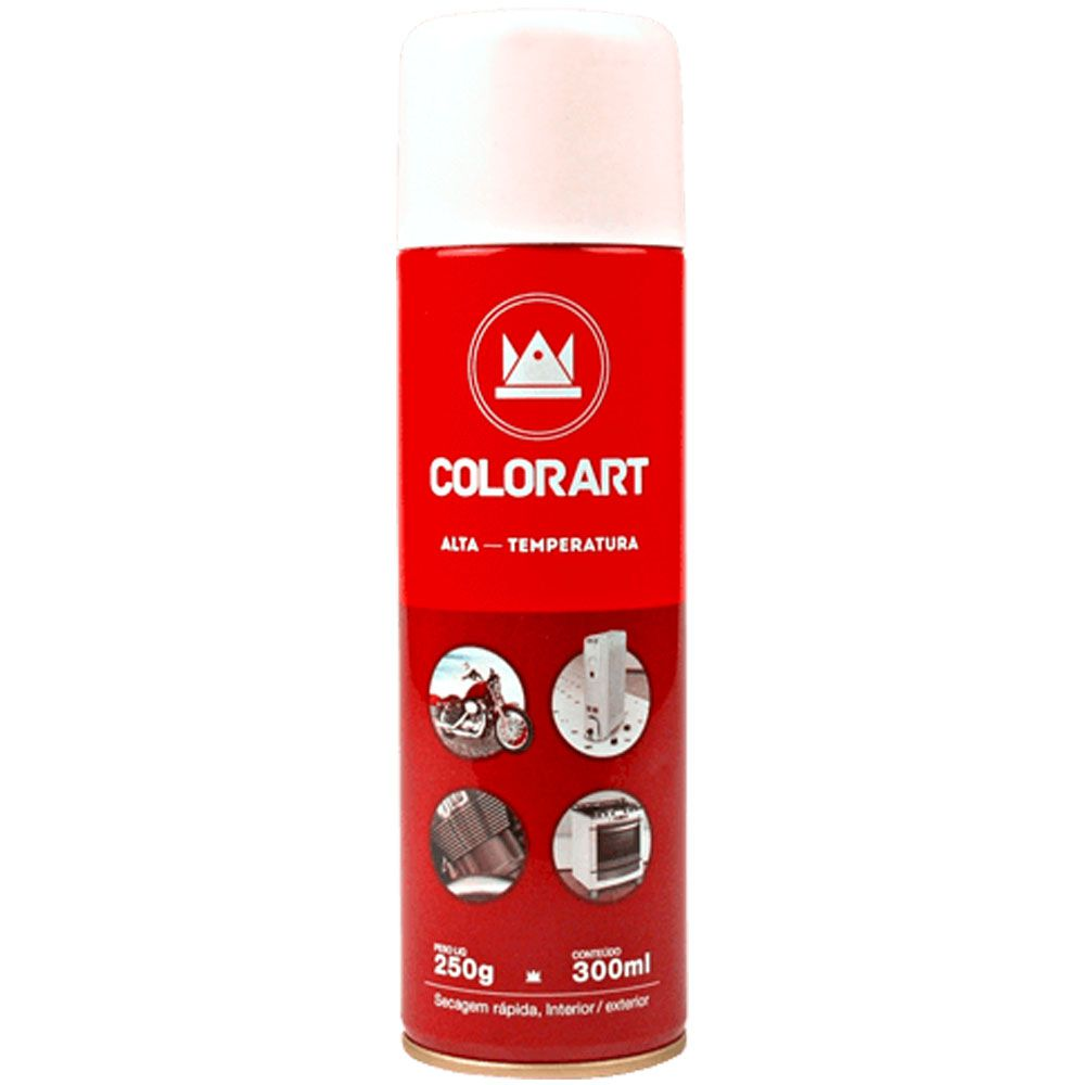 Tinta Spray Alta temperatura 300ml - Colorart