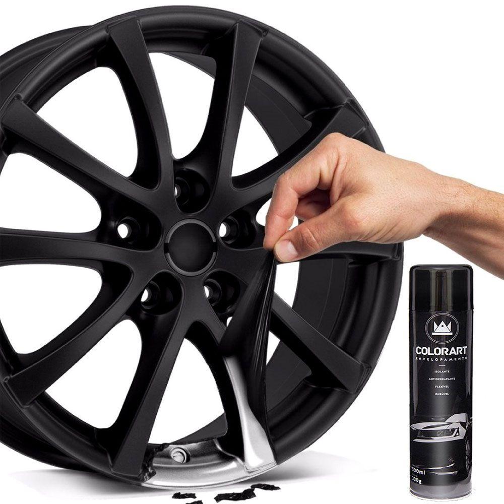 Tinta Spray para Envelopamento Preto Fosco 500ml - Colorart