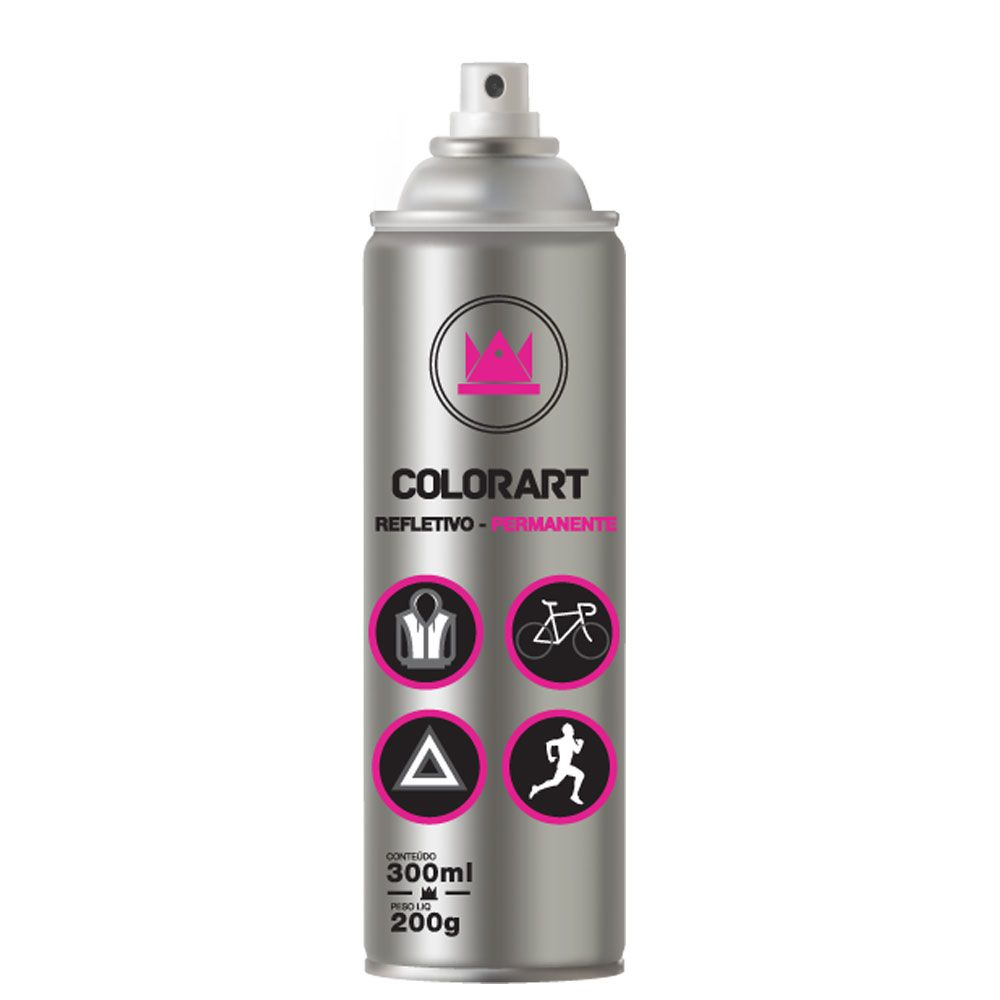 Tinta Spray Refletiva Permanente 300ml - Colorart