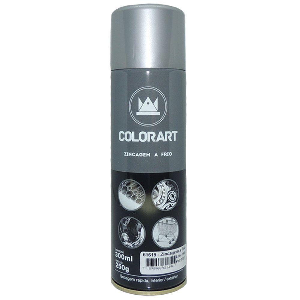 Tinta Spray Zincagem a Frio 300ml - Colorart