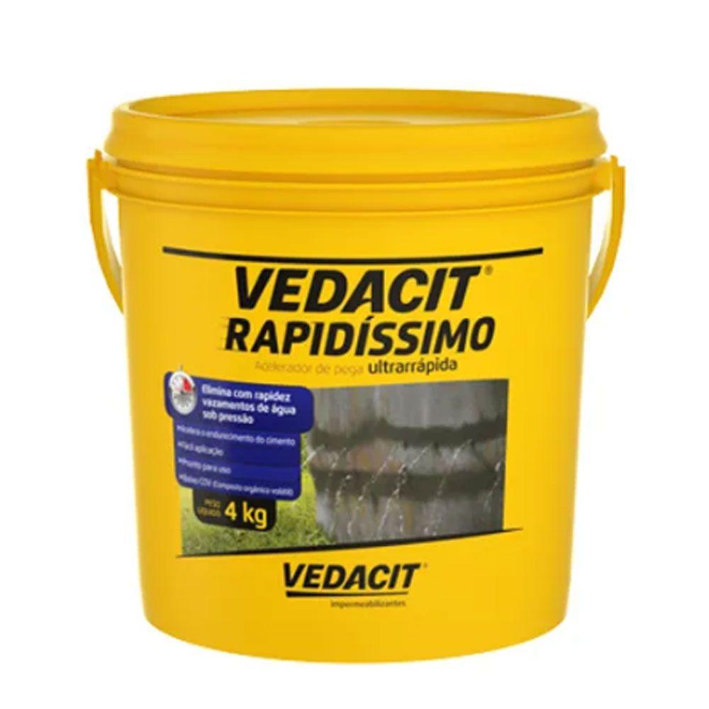 Vedacit Rapidíssimo Impermeabilizante 4kg - Vedacit
