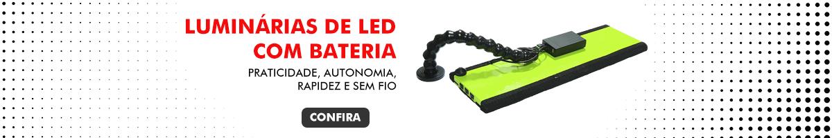 Luminárias de led com bateria