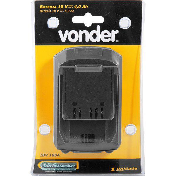 Bateria 18 V, 4,0 Ah, VONDER