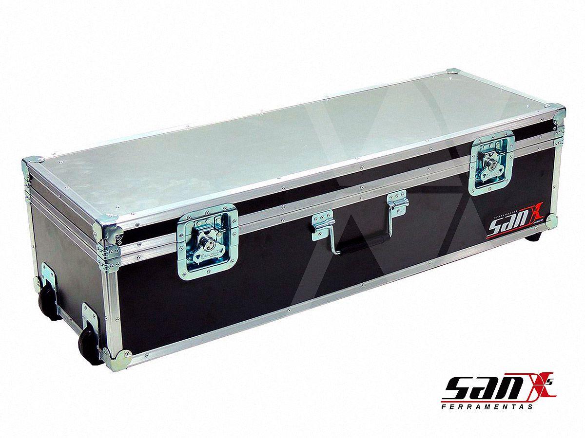 Case bancada desmontavel 90x30x24 cm | Rodizio + alça para transporte