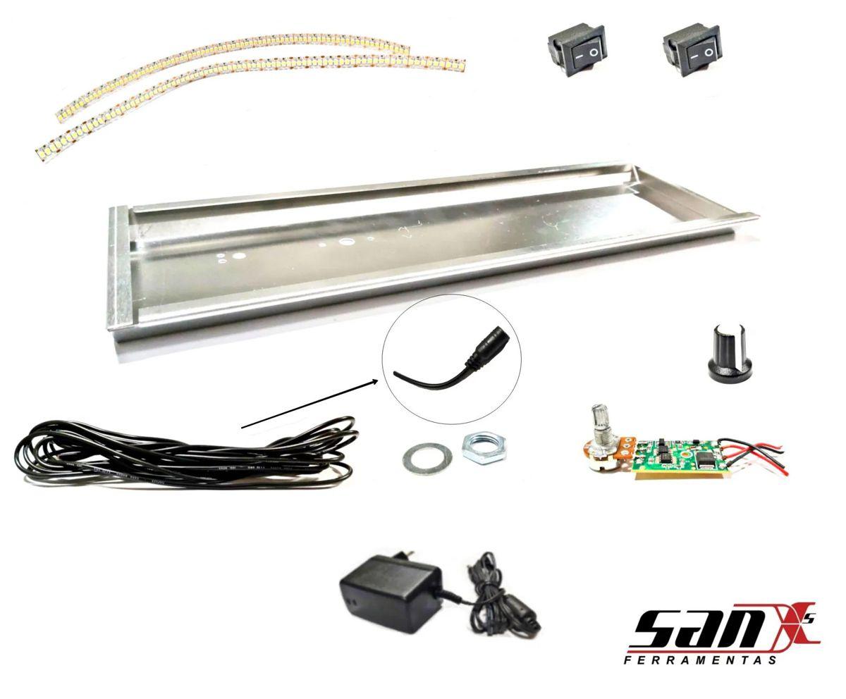 Componentes | LUMINÁRIA DE LED 12X38 cm - 2 LEDS SANX