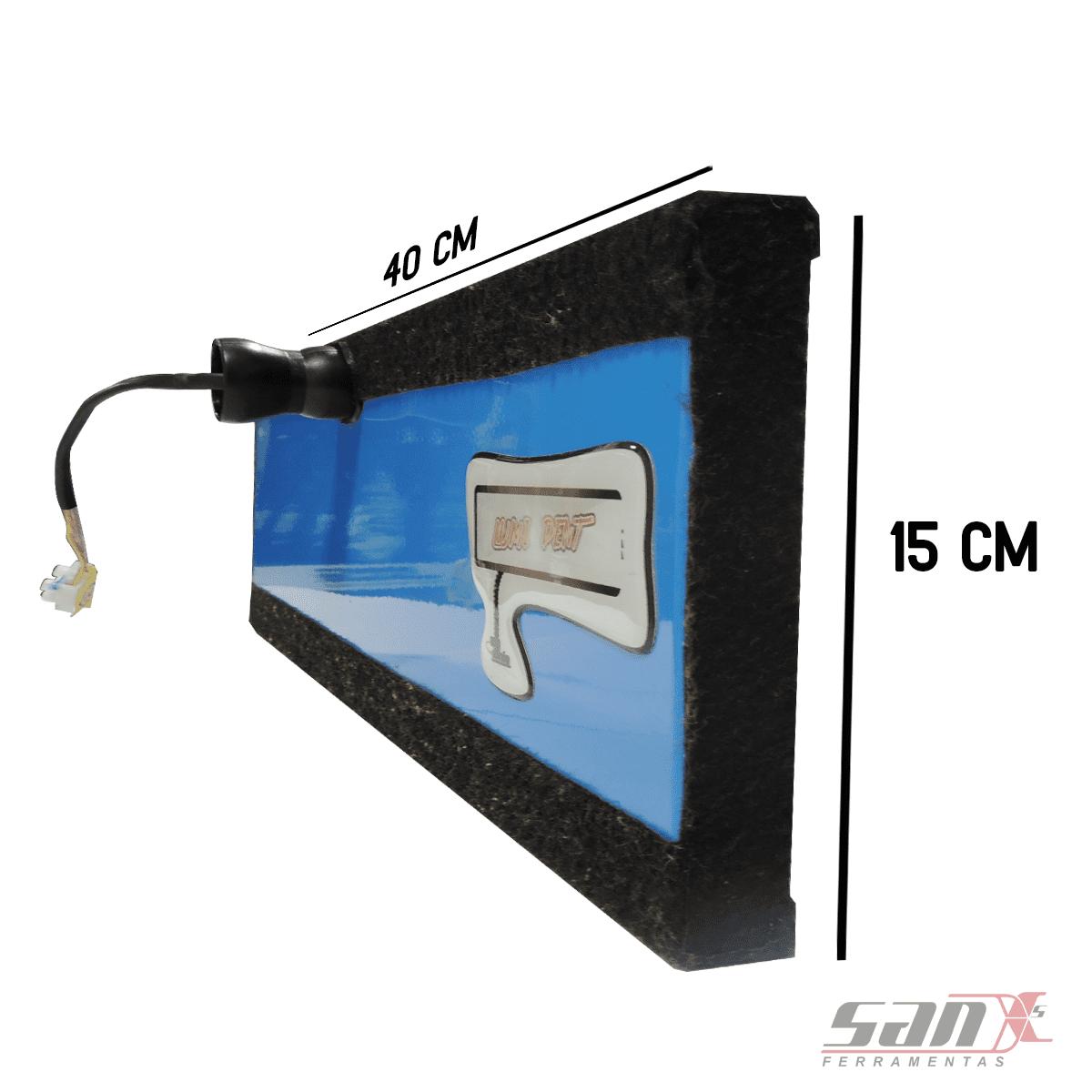 LUMINÁRIA DE LED 15x40 cm - 3 LEDS com DIMMER Remoto