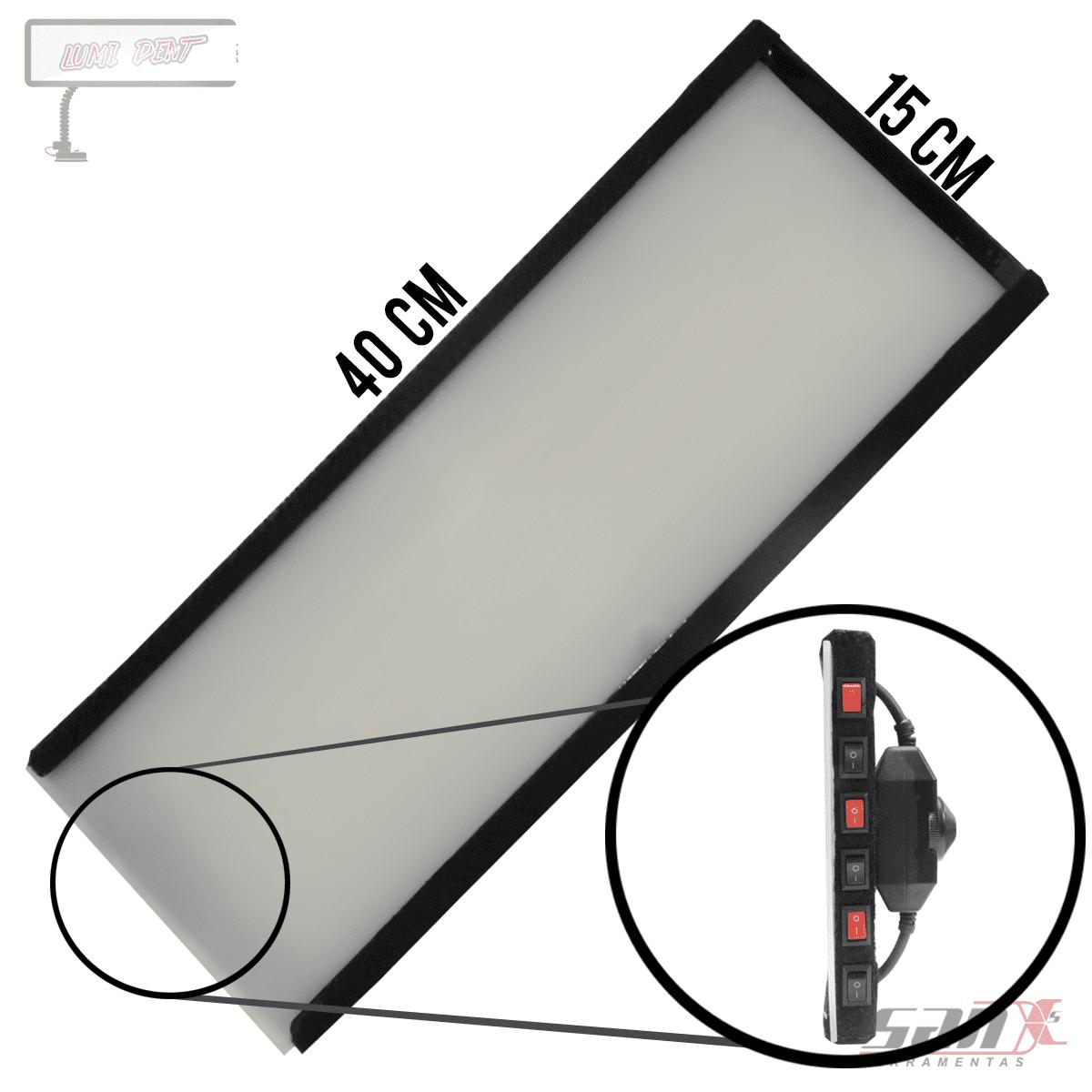 LUMINÁRIA DE LED 15x40 cm - 6 LEDS c/ DIMMER