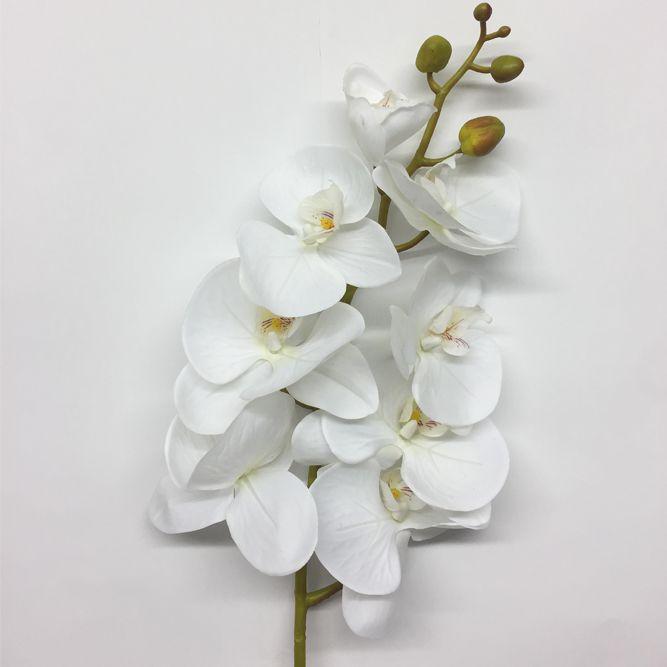 Haste Orquídea Phalaenopsis Silicone Branco