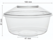 POTE PW-15 230ML COM TAMPA CRISTAL MOUSSE 100 UND WER