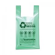 SACOLA PLASTICA VERDE IMPRESSA 38X50X0,3 C/500
