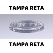 TAMPA RETA PET PARA COPOS DE 270/360ML PCT COM 100 UND