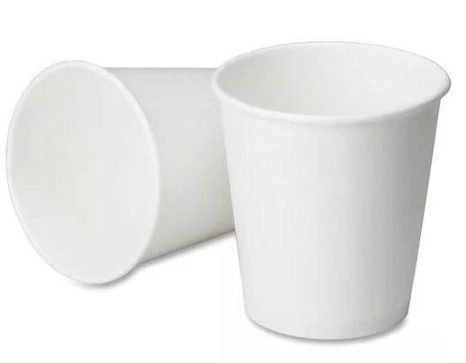 COPO DE PAPEL DE CAFÉ 120ml EM PAPEL BRANCO LISO COM TAPA BICO 100 UND