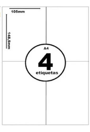 ETIQUETA EM FOLHA PACOTE COM 250 FOLHAS 105X149
