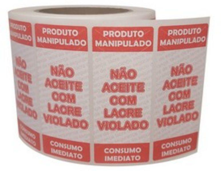 ETIQUETA LACRE 100x40 PIZZA,IFOOD,DELIVERY 1000 ETIQUETAS