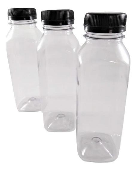 GARRAFA PET PLASTICA TAMPA COM LACRE PRETA 500ml 20 UND