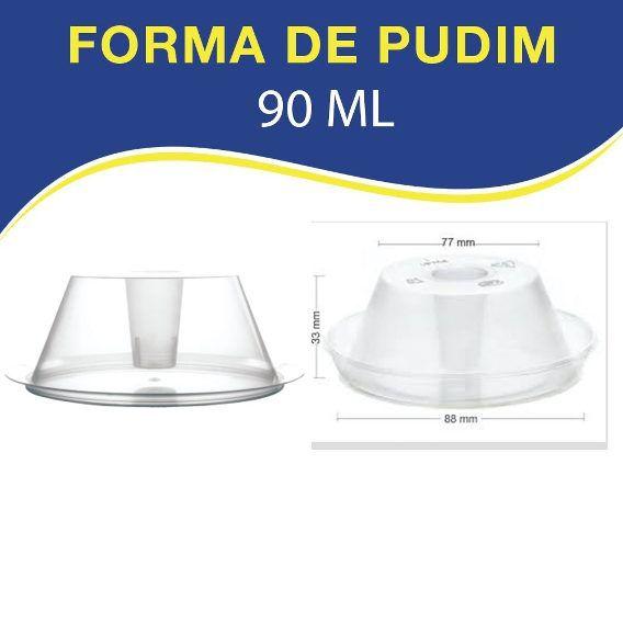 KIT 10 - FORMA PUDIM FORNEAVEL COM TAMPA 1100 Ml Pw53 e 50 - FORMA PUDIM FORNEAVEL 90 ML COM TAMPA PW61