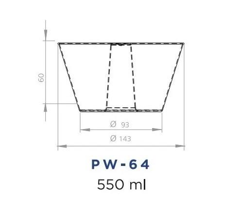 KIT FORMA DE PUDIM FORNEAVEL C/ TAMPA 500ML PW64 120 UND E PW53 1100ML 120 UND