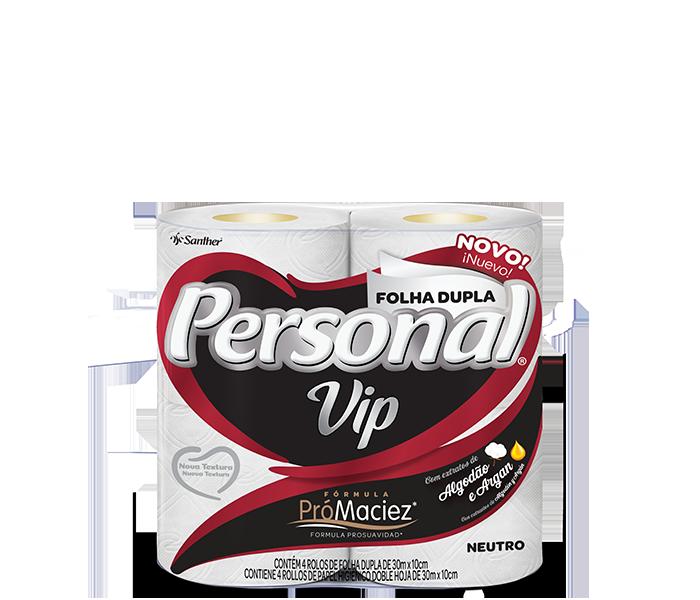 Papel Higiênico Personal Vip 64 Rolos Folha Dupla 30 Metros