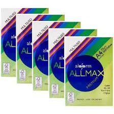 PAPEL SULFITE A4 C/ RESMAS 500 FOLHAS ALLMAX