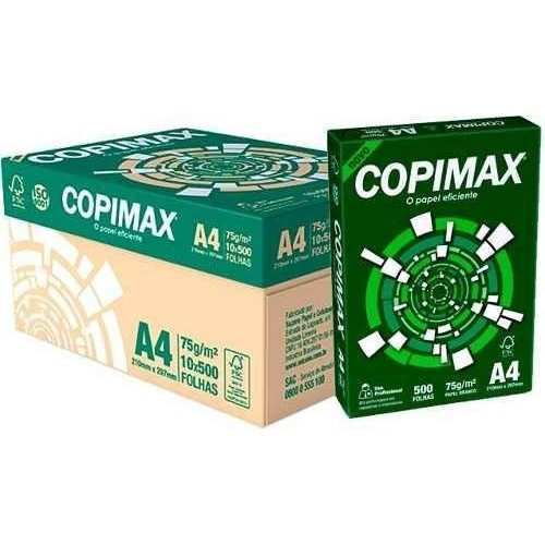 PAPEL SULFITE A4 C/ RESMAS 500 FOLHAS COPIMAX