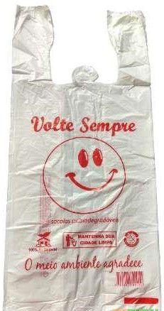 SACOLA OXI-BIODEGRADAVEL VOLTE SEMPRE 38X50 PACOTE 2,5kg