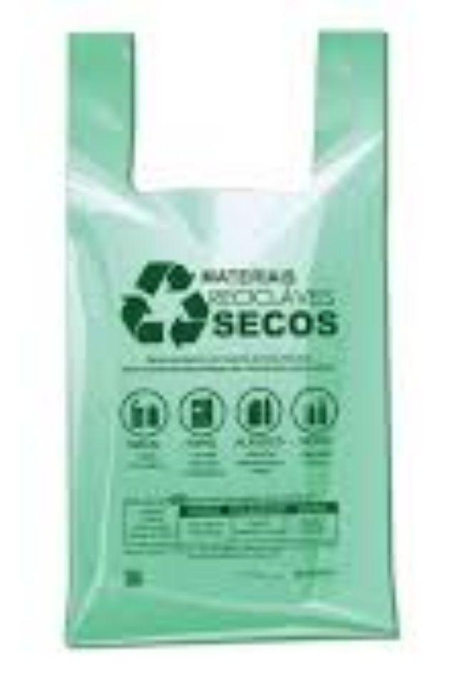 SACOLA PLAST VERDE IMPRESSA 48X55X0,3 C/500