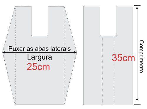 SACOLA PLASTICA PEQUENA BRANCA 25x35cm C/1000