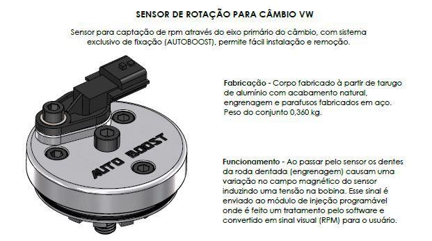 SENSOR DE ROTAÇÃO PARA CÂMBIO VW