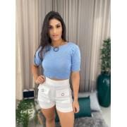 Blusa Tricot Azul