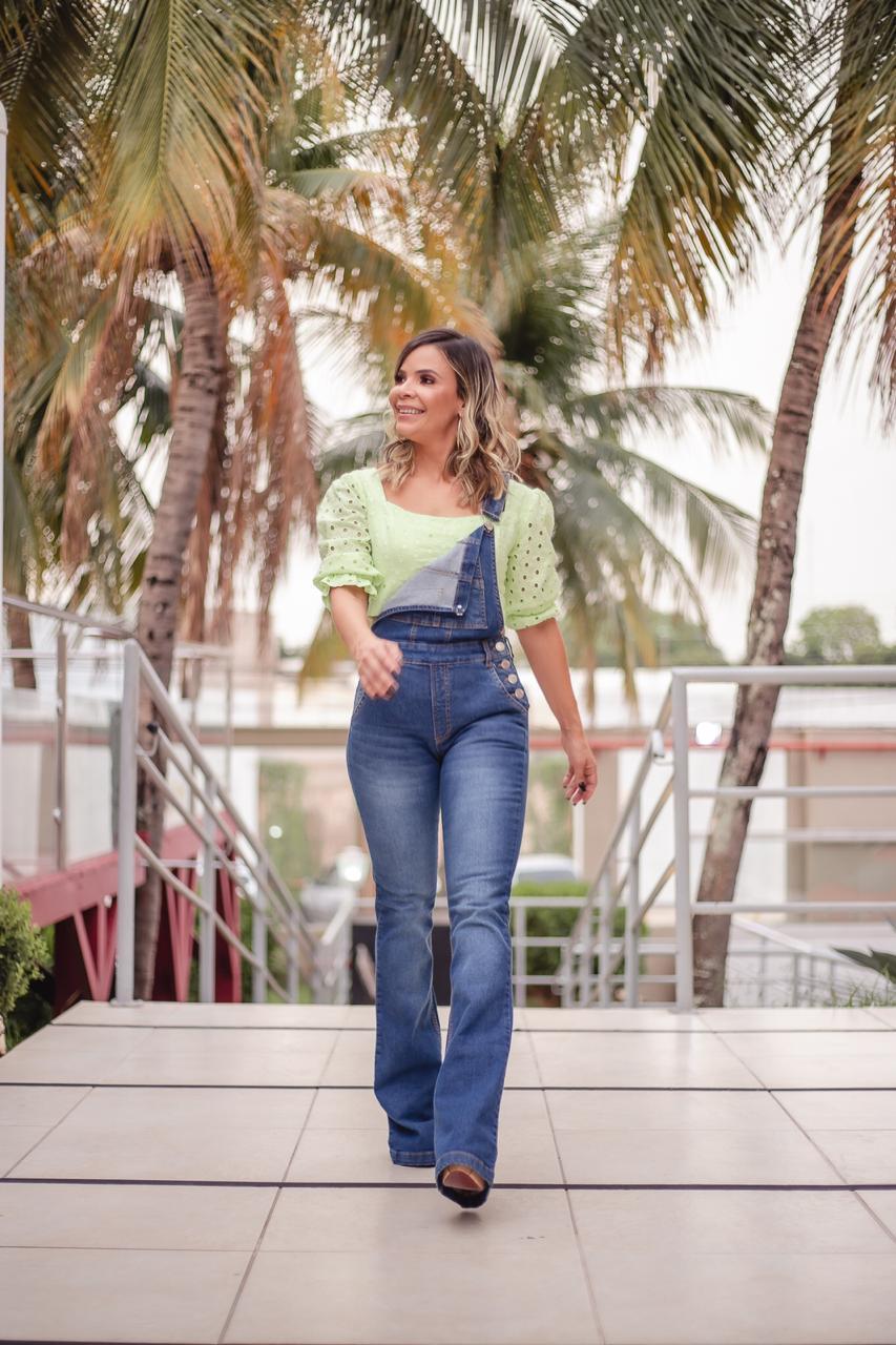 Macacão jeans denim