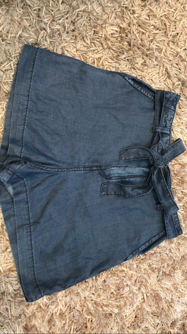 Short jeans tecido