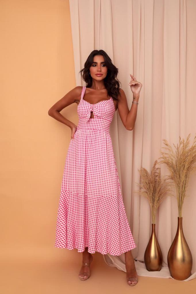 Vestido Aline Xadrez
