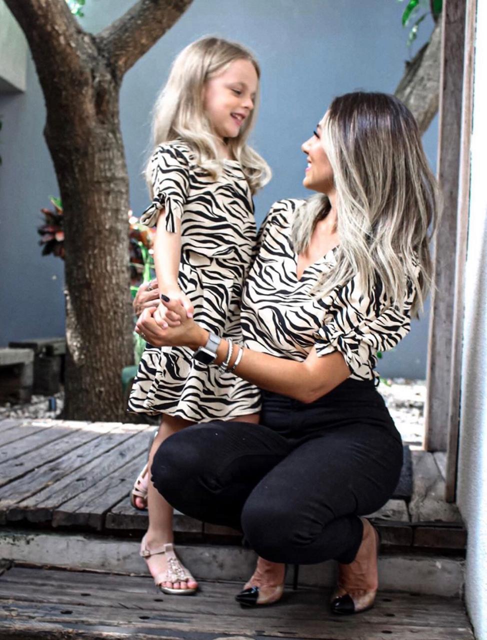 Vestido filha est. zebra