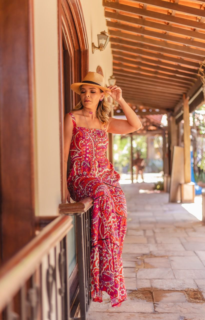 Vestido longo Carol G