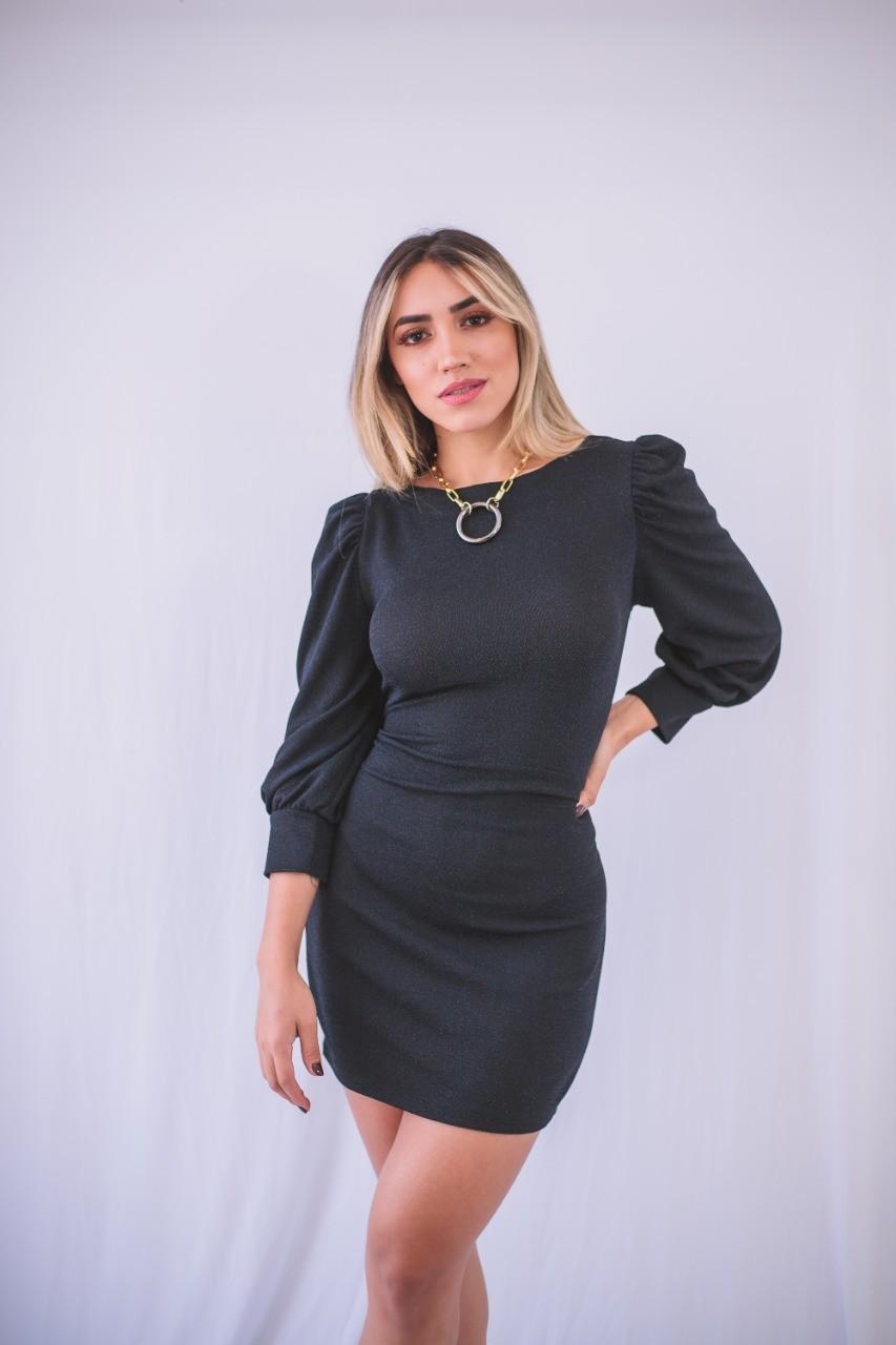 VESTIDO PAOLA EM LUREX