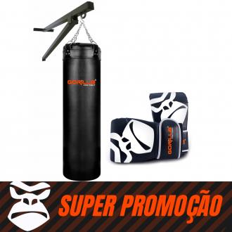 Saco De Pancada 120 + Luva Pro + Suporte  Parede Gorilla