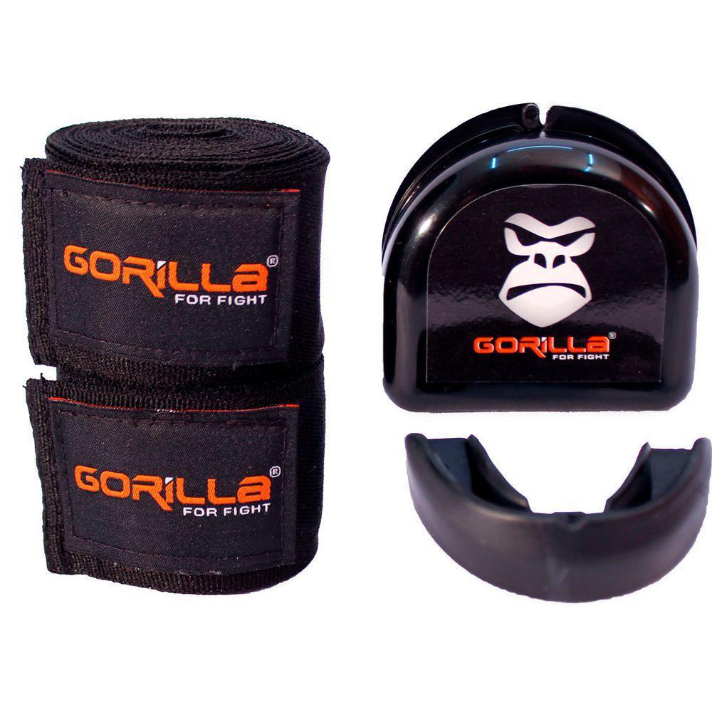 Bandagem Elástica + Protetor Bucal - Muay-Thai Boxe - Gorilla