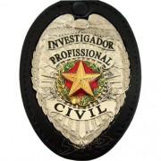 DISTINTIVO - DETETIVE PROF - INVESTIGADOR CRIM - AGENTE SEGURANÇA