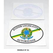 ADESIVO PARA VIDRO DO CARRO - PODER LEGISLATIVO AUTORIDADE DO LEGISLATIVO