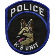 BORDADO PATCHES - K-9 UNIT POLICE