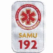 BORDADO PATCHES - SAMU 192 BRANCO