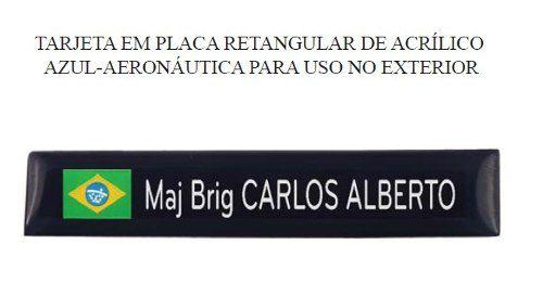 Tarjeta Acrilica Militar Fab Brasil (uso No Exterior)